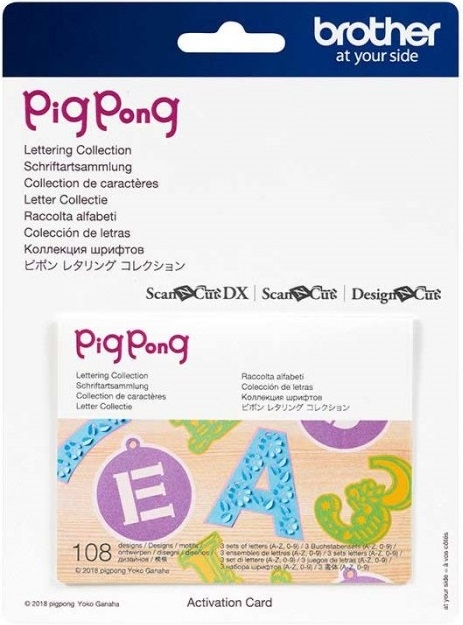 ScanNCut Pig Pong - Lettering Collection